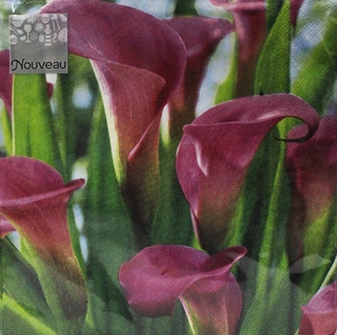 Pink Calla Decorative Napkins - 20 ct