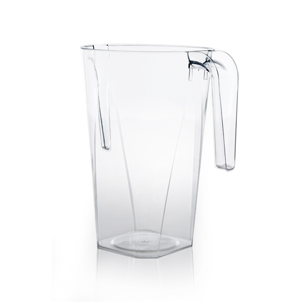 80oz Heavyweight Premium Plastic Square Pitcher
