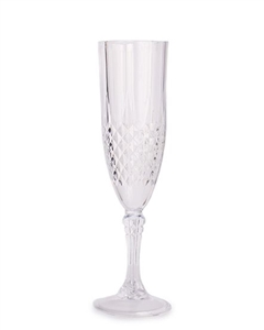 Crystal Effect Plastic Champagne Glasses 4 Pack