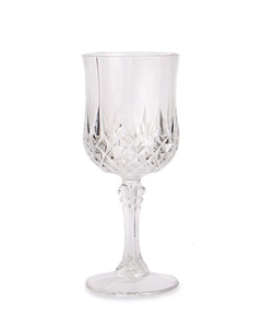 Crystal Effect Plastic Wine Glasses 4 Pack