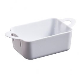 Mini-Ware White Plastic Oblong Dish