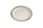"Royalty 10"" Ivory Disposable Plastic China Plate"
