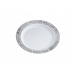 "Royalty 9"" White Disposable Plastic China Plate"