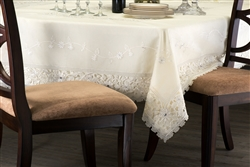 Bellerose White or Beige Lace Tablecloth