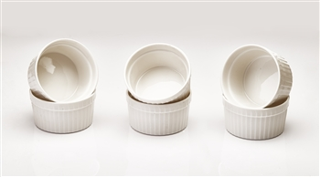 White 6pc Ramekin Set