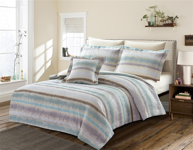 Savannah Blue Luxury 8pc Twin Bedding Set - Discount Bed Linens