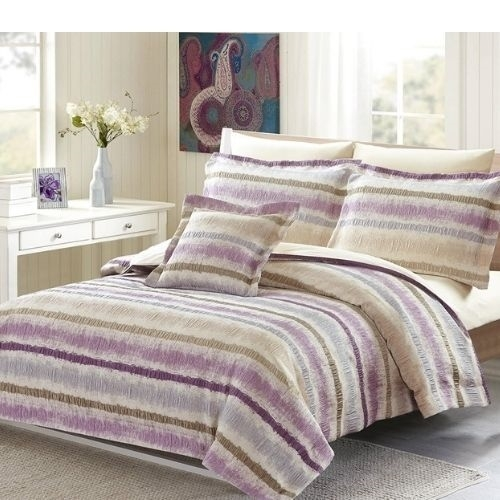 Savannah Violet Luxury 8pc Twin Bedding Set - Discount Bed Linens
