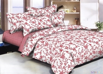 Royal Red Roses 6 piece Twin Bedding Set