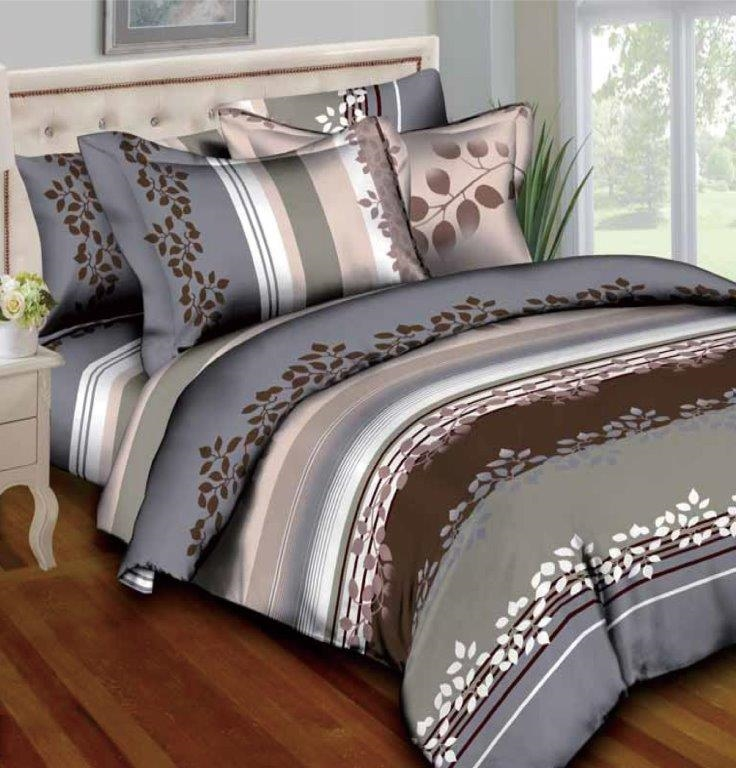 Placid Petals 8pc Twin Bedding Set, Earth Tone Bedding Collections