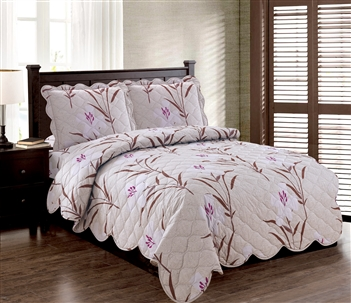 Better Bed: Flower Finesse 3pc Quilt Set