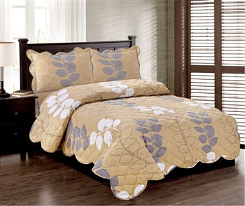 Better Bed: Fluttering Folioles 3pc Quilt Set