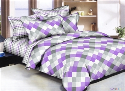 Diamonds Lavender 8 piece Twin Bedding Set