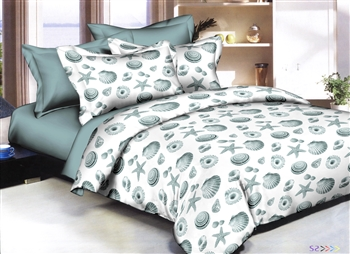 Sea Shells 8 piece Twin Bedding Set