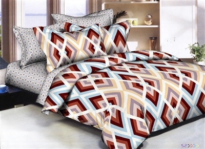 Color Block Diamond 8 piece Twin Bedding Set
