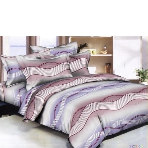 Wavy Streaks Purple 6 piece Twin Bedding Set