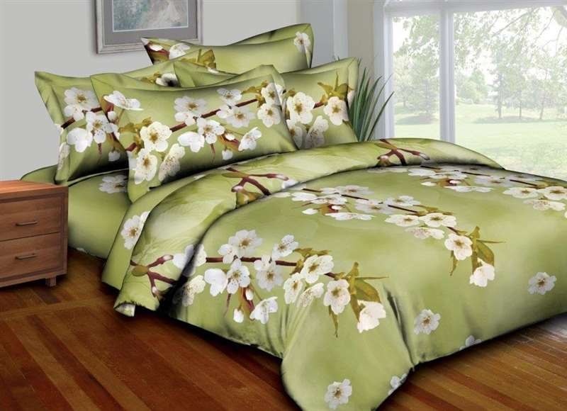 Olive Orchids 8 Piece Bedding set