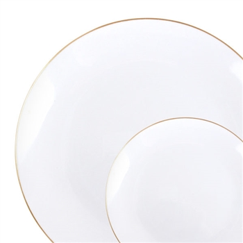 Organic White and Gold Rim Collection