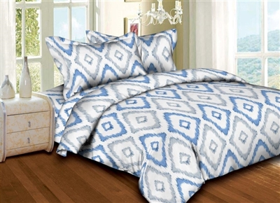 Diamond-Shaped Ikat 6PC Twin Bedding Set