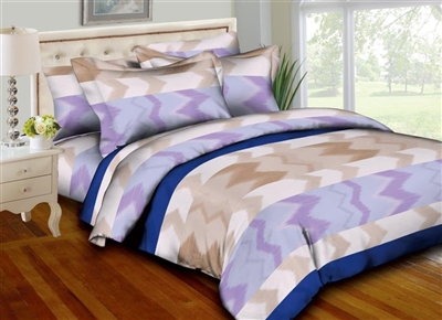 Watercolor Zig Zag 8PC Twin Bedding Set