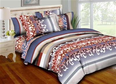 Stripes and Swirls 8PC Twin Bedding Set