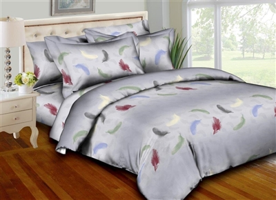 Floating Feathers 8PC Bedding Set
