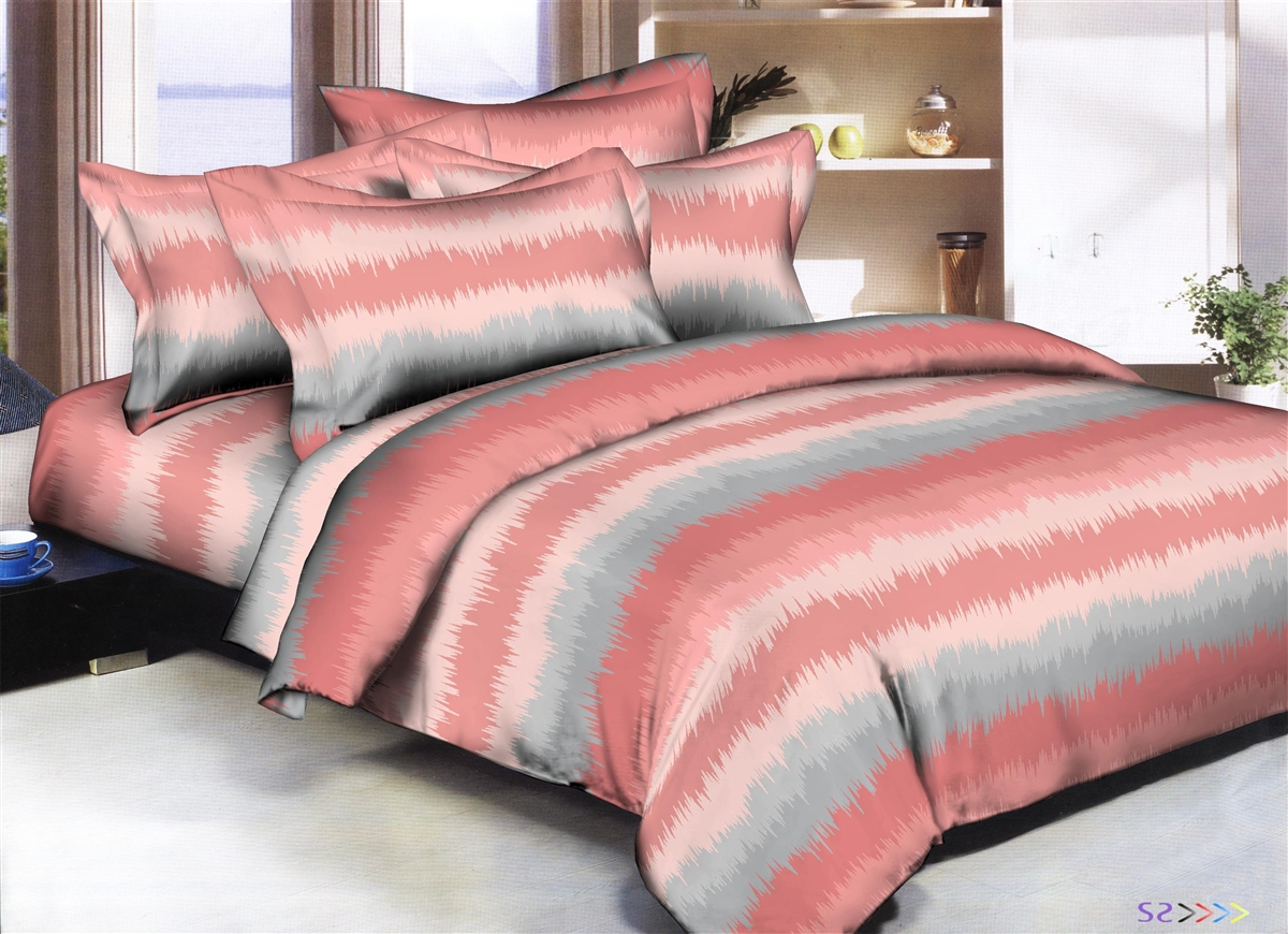 Better Bed Collection: Spiky Stripes 8PC Twin Bedding Set