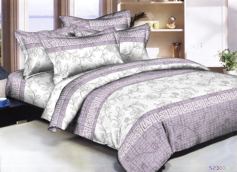 Better Bed Collection: Lavender Pottery 8PC Twin Bedding Set