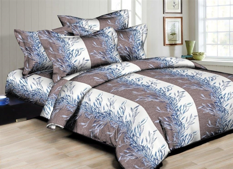 Better Bed Collection: Willow Leaves 8PC Twin Bedding Set
