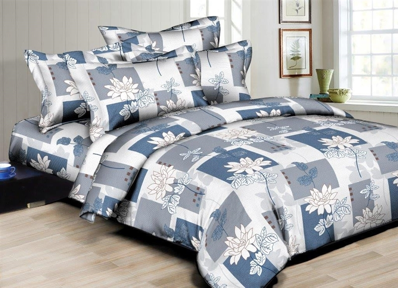 Better Bed Collection: Floral Patches 8PC Twin Bedding Set