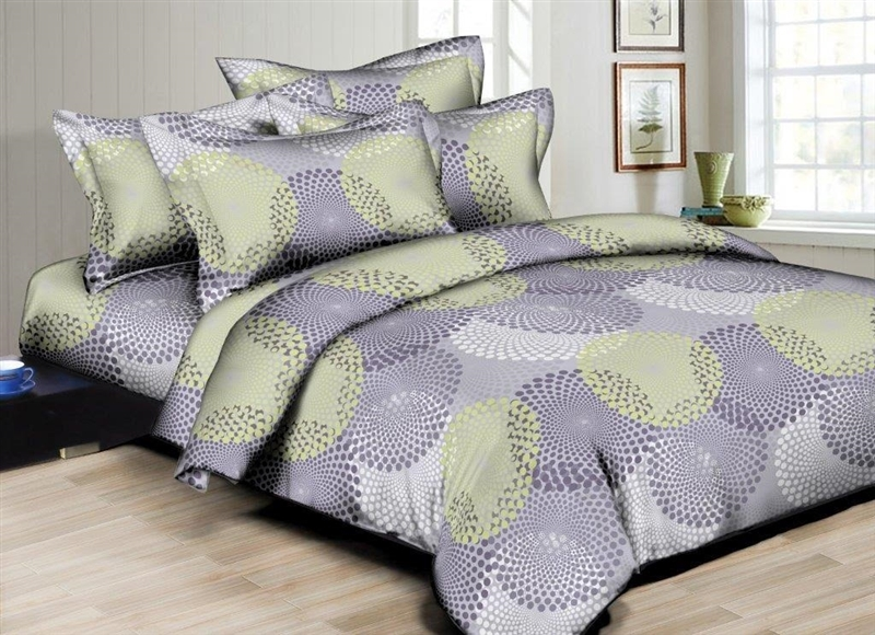 Better Bed Collection: Dotted Circles 8PC Twin Bedding Set