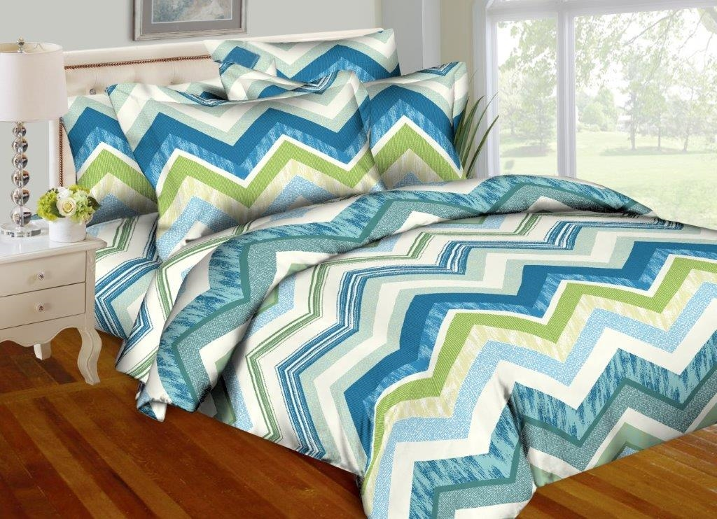 Teal Zig-Zags 8PC Twin Bedding Set