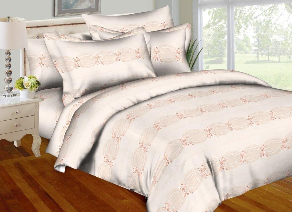 Champagne Bows 8PC Twin Bedding Set