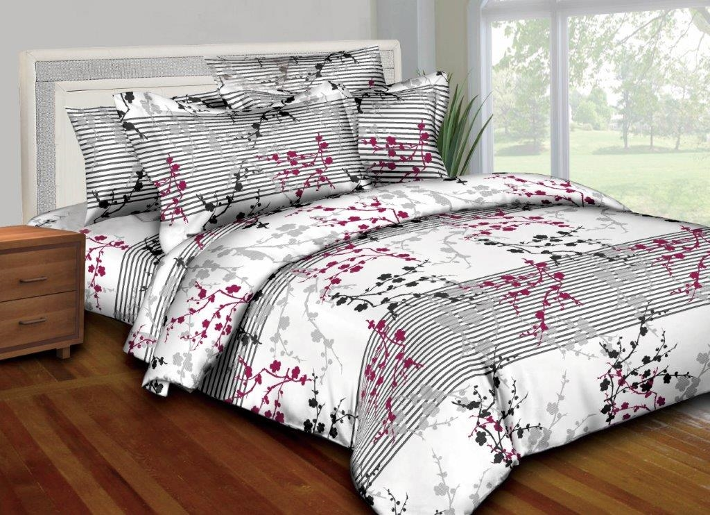 Better Bed Collection: Flower Outline 8PC Twin Bedding Set