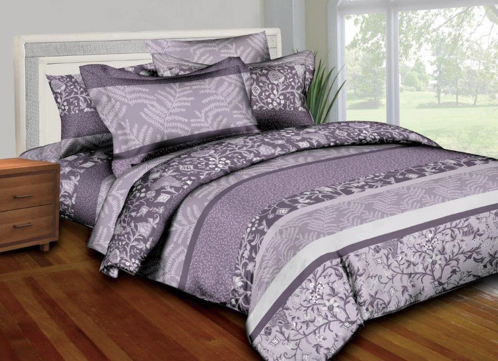 Better Bed Collection: Lavender Filigree 8PC Twin Bedding Set
