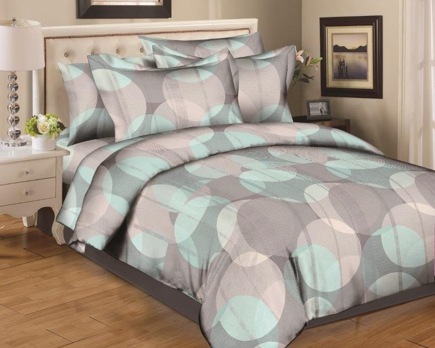 Layered Circles 8PC Bedding Set