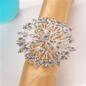 Snowflake Napkin Rings - Set of 4, Decorative Table Accesories