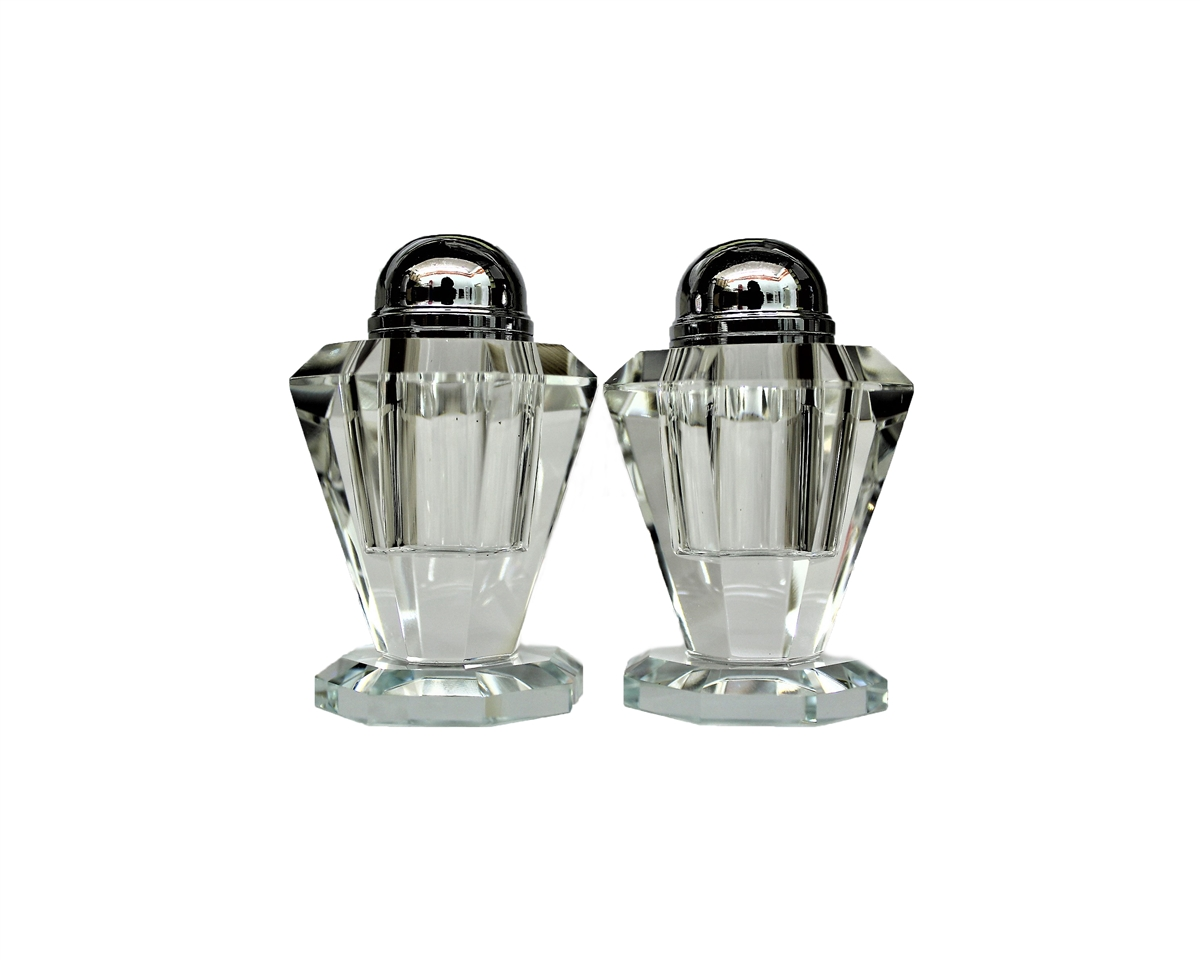 Crystal Twin Salt & Pepper Shakers