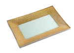 Golden Grain Rim Glass Tray