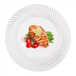 "High Quality MY STYLE 10"" plates 120 count, high end disposable party plates, heavy weight plastic designer dishware, luxury party goods, paper plates for corporate events"