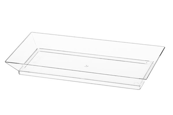 "5"" Clear Oblong Tray by Simcha Collection - 6 per Pack"