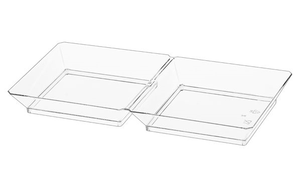 2 Section Dish Clear - 10 per Pack