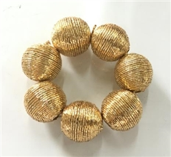 Golden Shell Band Napkin Ring, Set of 4 - Dinner Party Accents