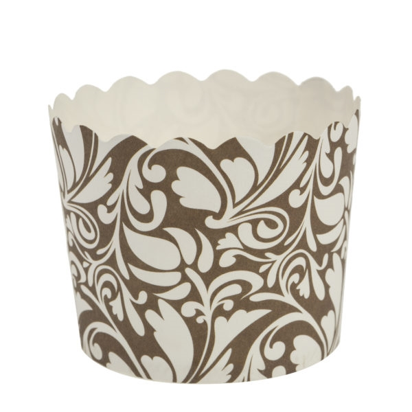 Scalloped Design Gold w/ White Baking Cups 20 ct