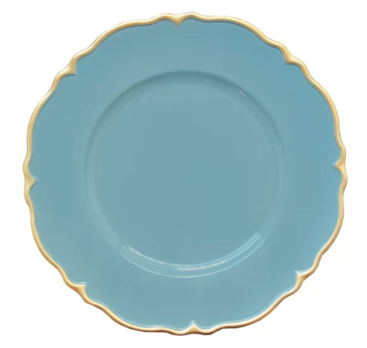 Elle Decor Blue Scallop Charger Plate (Set of 4)