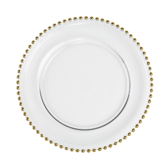 Larger Photo Email A Friend  sc 1 st  The Closeout Connection & 13-Inch Silver Beaded Charger Plate