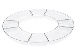 8 Section Clear Dish by the Simcha Collection - 3 per Pack - Item #1361