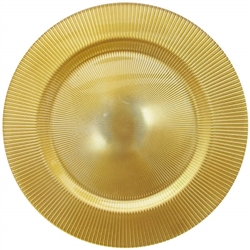 Glass Sunray Gold Charger Placemat - Luxury Table Décor