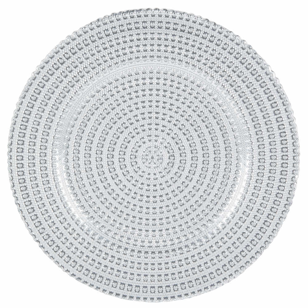 Glass Tripoli Silver Charger Placemat - Luxury Table Décor