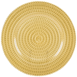 Glass Tripoli Gold Charger Placemat - Luxury Table Décor