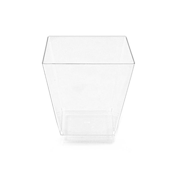 Clear Square Fruit Cups 10 ct